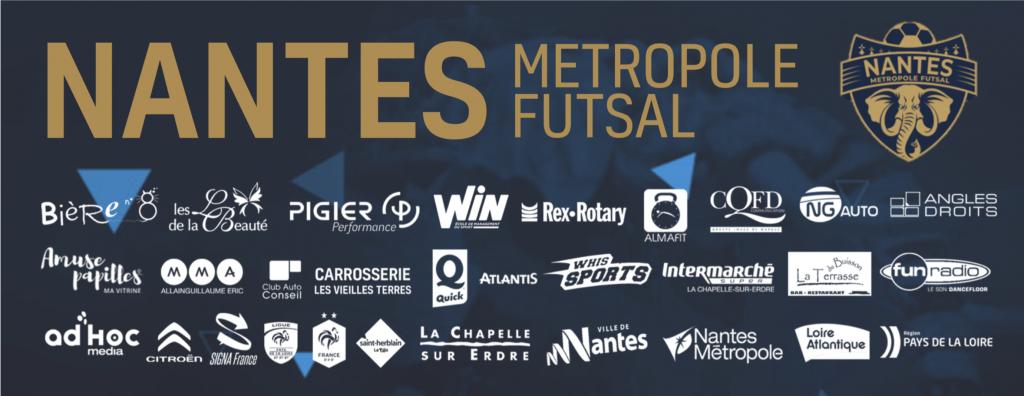 Bannière partenaires du Nantes métropole futsal